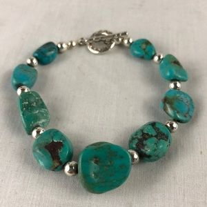 Beautiful sterling silver and turquoise bracelet